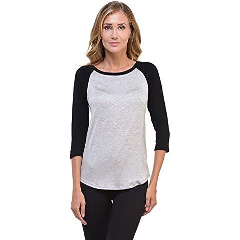CeRui Classics Bekleidung T-Shirt Camicia Raglan Donna