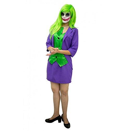 Imagen de joker mujer disfraz inspirado adulto  talla  m alternativa