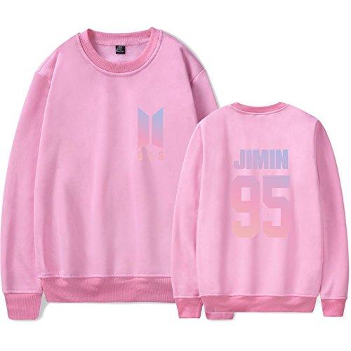 SIMYJOY Amants KPOP Pulls BTS Ventilateurs Sweat Collège Hip Hop Sweat Shirt Pour Hommes Femmes Adolescents rose Jimin 95
