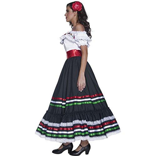 Imagen de ropa señorita disfraz flamenca l 44/46 ropa andaluza vestimenta western de mujer vestido bailaora carmen atuendo gitana carnaval alternativa