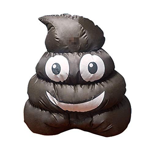 Kostüm Scheiße - AMOSFUN Aufblasbare Scheiße Kostüm Lustige Aufblasbare Anzüge Halloween Party Cosplay Kostüm Kostüm für Männer Frauen Erwachsene Ohne Batterie