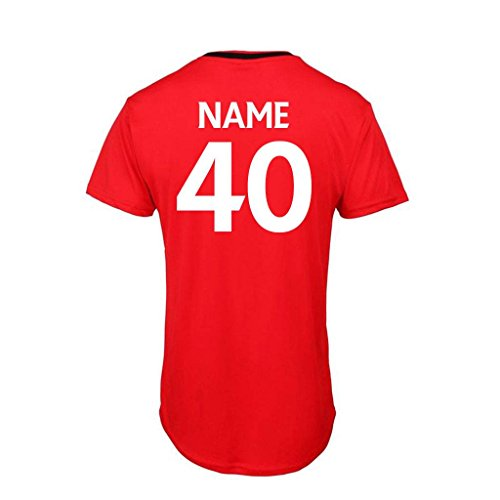 Bang Tidy Clothing Men s 40th Birthday Gift Official Liverpool Personalised Football Shirt GIFT BOX Red M