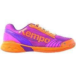 Kempa Attack Women, Zapatillas de Balonmano para Mujer, Rosa (Rose/Carotte), 42.5 EU