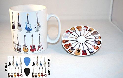 Klassik Gitarren - Ceramic Foto-Tasse und Coaster Set