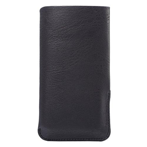 Phone case & Hülle Für IPhone 6 / 6s, Samsung Galaxy S4 / S3, Huawei, 4.8 Zoll Universal Elefanten Haut Textur Vertikale Art Beutel Fall Beutel Mit Einbauschlitz ( Color : Black ) Black