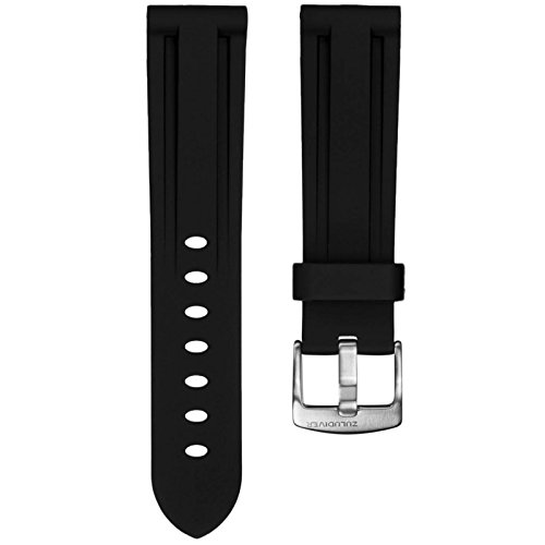 black-italian-diver-style-pu-rubber-watch-strap-zuludiverr-brushed-buckle-22mm