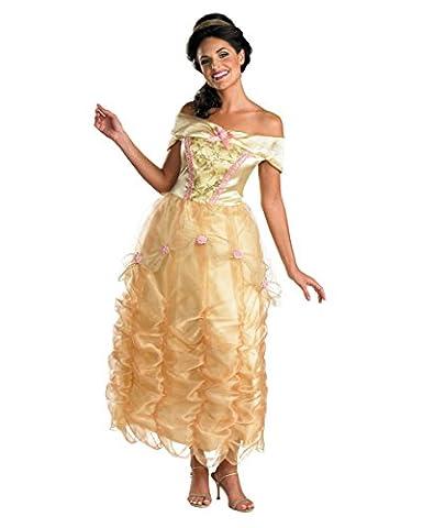 Belle Deluxe Damen-Kostüm aus Disneys die Schöne und das Biest S (Belle Von Schöne Und Das Biest Kostüm Für Erwachsene)