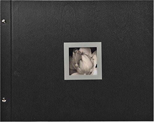 Exacompta - Réf. 16944E - Album Photos à Vis Rechargeable Ceremony - 40 Pages Noires - 160 Photos - 37 x 29 cm - Noir