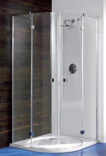 duschwand halbrund Breuer Espira Runddusche 900/900 Quickline Dusche rund Duschkabine Glastrennwand Gläser gebogen Halbrund Viertelkreis