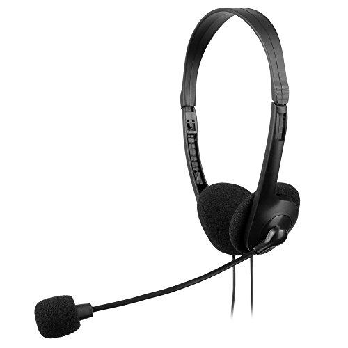 Anima AH118-Kopfhörer mit Mikrofon und Einstellbarem Kopfband (Lautstärkeregler, Geräuschunterdrückung, 30mm) Lautsprecher, Schwarz Anime-headset
