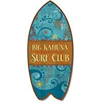 Tropical Big Kahuna Surf envejecido min tabla de surf Floral Home Décor Accent ...