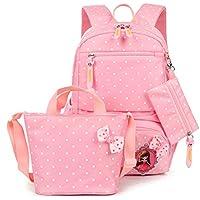 FRISTONE Conjunto de 3 Polka Dot lindo Las mochilas escolares universidad/bolsas escolares/mochila