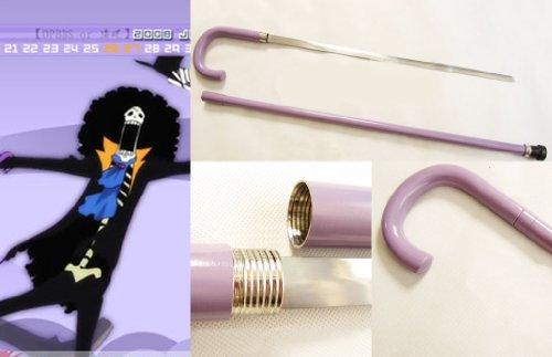 Dream2Reality Cosplay One Piece Brook Cane mittel gekohltem Stahll Schwert