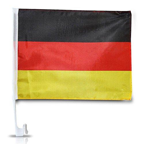 Autoflagge Deutschland mit Halterung