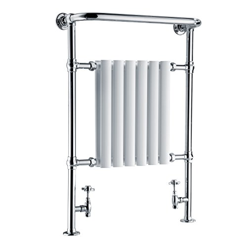 Hapilife Heated Towel Rail Bathroom Radiators Towel warmer White amp; Chrome 963 x 673 mm