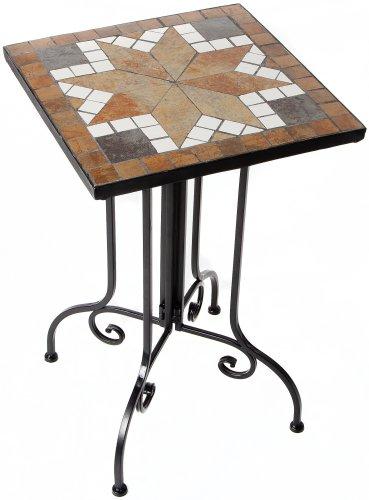 El Fuego AY2610 Side Table - Square with Mosaic Top