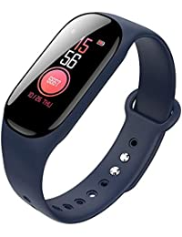 ACEBABY Pulsera De Actividad Reloj Inteligente Silicona Suave Banda Mujer Hombre Reloj Fitness,Cronómetro,para Running,Monitor de Ritmo Cardiac,Notificación de Mensajes,Impermeable