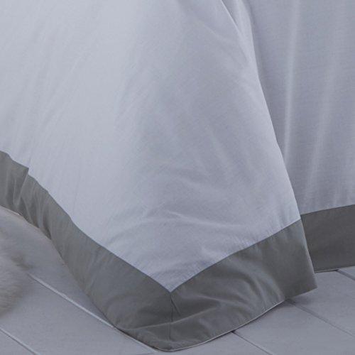 Serene – Madison – Easy Care Duvet Cover Set – Double, Grey