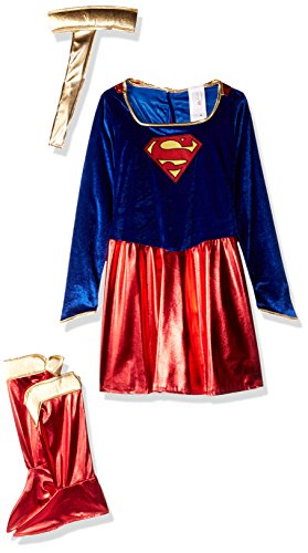Mädchen Kostüm Supergirl (Supergirl?-Kostüm für Mädchen - 8-10)