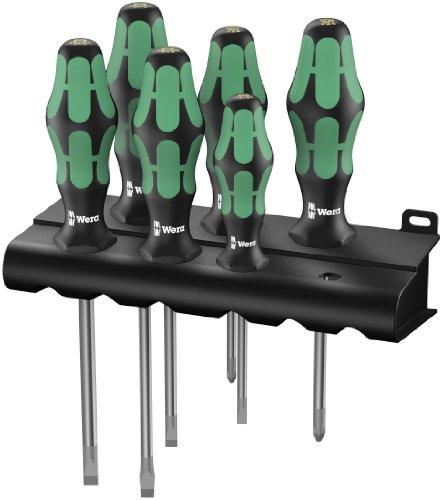 Preisvergleich Produktbild Wera 334 / 355 / 6 Rack Schraubendrehersatz Kraftform Plus Lasertip + Rack,  6-teilig,  05105656001