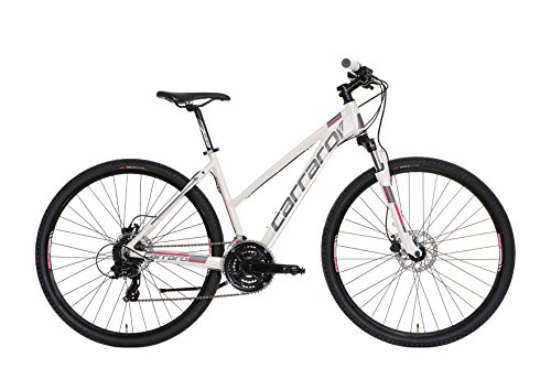 Carraro 715 Azimut SL, Bici Trekking Donna, Bianco/Viola Chiaro, S