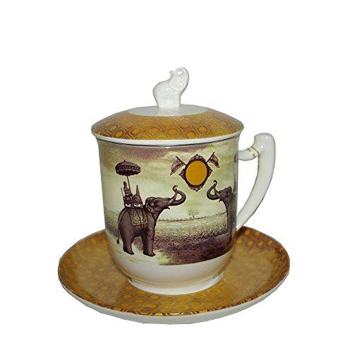 TeaLogic - Taza con filtro de té y la tapa , diseño de Sepia Elefant