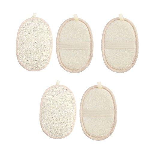 Luffa Schwamm Scrubber, niceEshop(TM) 5 Stück Natural Luffa Schwamm Material Wäscher Cleanner Hautpflege für Spa, Bad und Dusche/für Männer und Frauen