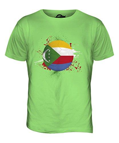 CandyMix Comore Calcio T-Shirt da Uomo Maglietta Verde Lime