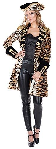 Tiger Mantel mit Tigermuster 80er Kostüm für Damen (80er Affe Kostüm)