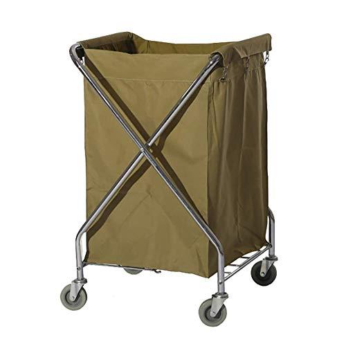 Work Home Cart Tool Folding X-Typ Hotel Leinen Auto Mobile Storage Trolley Wagen mit Universal Wheel Beige Room Service Cart 62 & Times; 62 & Times; 98cm -