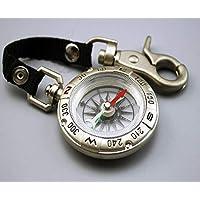 Preisvergleich für BHPSU Tragbarer taktischer Kompass, Überlebens-Kompass, Camping, Klettern, Outdoor, Campass, Werkzeug aus Edelstahl, Spiegelglas
