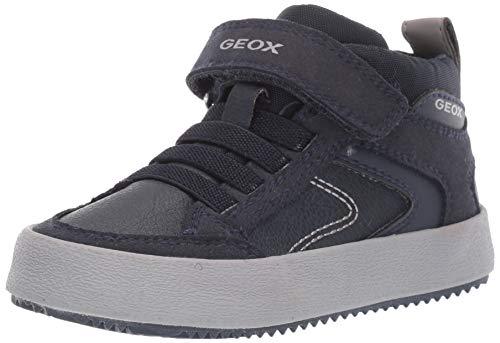 Geox J Alonisso Boy N, Zapatillas Altas para Niños, Azul Navy/Grey C0661, 26 EU