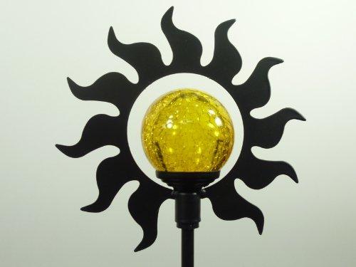 Wunderschöne Solarfigur SONNE mit Erdspieß - Gartenstecker Solarspieß Solarleuchte