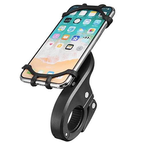 Alamor 4.7-6.0 Pouce Poignée Téléphone Support Silicone Strap Mount Moto Vélo Universel - Noir