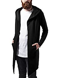Urban Classics Long Hooded Open Edge Cardigan, Chaqueta Punto para Hombre