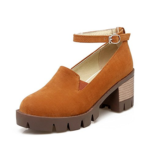 Balamasaapl10023 - Chaussures Plateforme Femme Orange