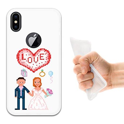 iPhone X Hülle, WoowCase Handyhülle Silikon für [ iPhone X ] Regenbogen Eule Handytasche Handy Cover Case Schutzhülle Flexible TPU - Transparent Housse Gel iPhone X Transparent D0275