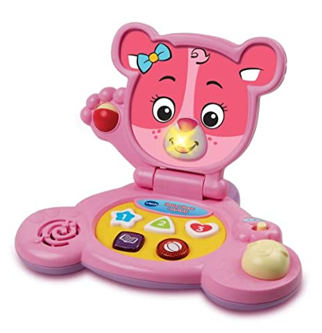 VTech – Baby Bear Laptop Pink – Baby Ordi Ourson Rose Version Anglaise (Import Royaume-Uni)