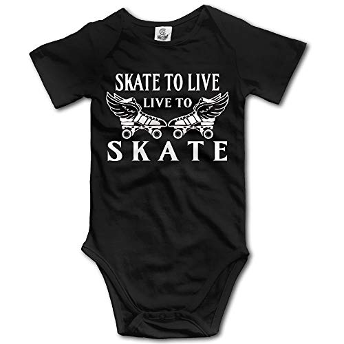 Skate to Live, Live to Skate Boy's & Girl's Short Sleeve Jumpsuit Outfits Black