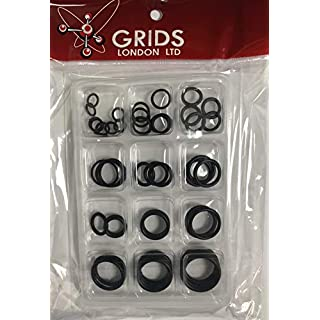 Assorted Size Pack of O Rings Plumbing DIY Air Seal Rubber Tap Sink 'O' Thread