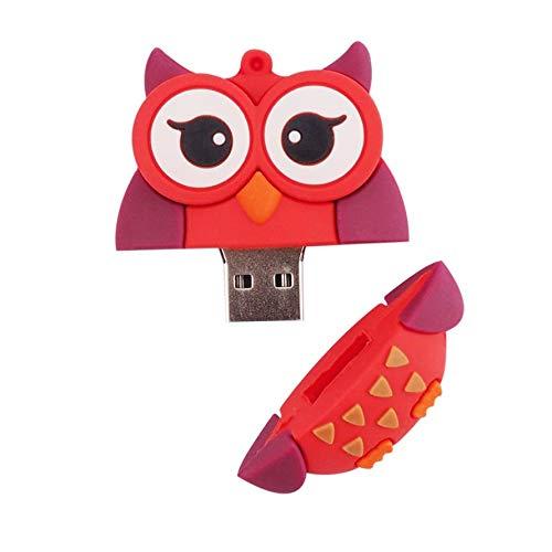 HoganeyVan Dibujos Animados Owl Pen Drive USB Flash