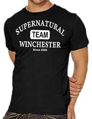 Touchlines Herren T-Shirt Supernatural - Team Winchester