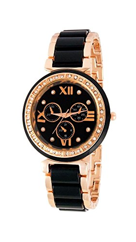 Womens Watch (MS ENTERPRISE Round Analogue Black Dial watch for Women)