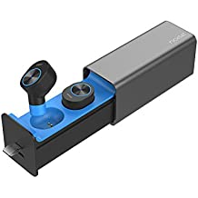 Noise Shots Truly Wireless Bluetooth Earphones with Charging Case, Compatible with Android & iOS (Blue)