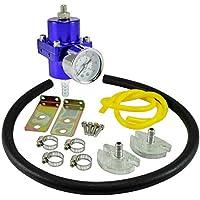 dpPerformance GmbH Universal regulador de presión de Gasolina 0–7Bar Ajustable (Color: Azul)