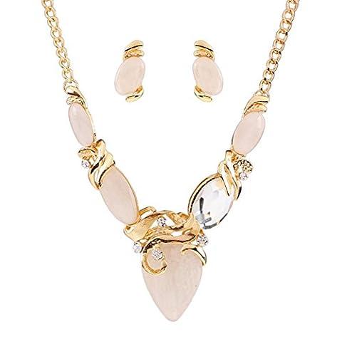 Caiyan Collier en résine diamant rétro collier Boucles d