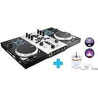 Hercules Dj Control Air Party Pack, Controladora de DJ con LED Party Light USB