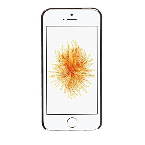 Ouneed® Luxux Geschnitzte Damast Weinlese Muster Matte Hard Case für Schutzhülle für iPhone SE 5 5S Case Cover (Weiß) schwarz