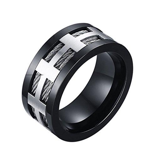 YC Top Fashion semplice in acciaio inox opaco-Anello, acciaio inossidabile, 22, colore: oro, cod. Y-TPnjz06-10