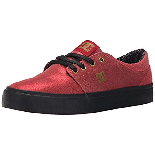 DC Women's Trase X TR Skate Shoe, Red/Black, 10 M US